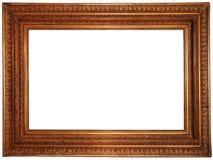 Marco plateado oro Imágenes de archivo libres de regalías