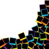 Marco polaroid colorido Imagen de archivo