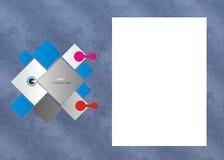 Marco polaroid con el marco de la textura y el fondo moderno ilustración del vector