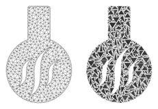 Marco poligonal Mesh Chemical Aroma del alambre e icono del mosaico libre illustration