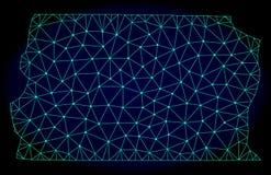 Marco poligonal Mesh Vector Abstract Map del alambre del Brasil - Distrito federales stock de ilustración