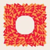 Marco polivinílico bajo trigonal poligonal rojo abstracto del vector Imágenes de archivo libres de regalías