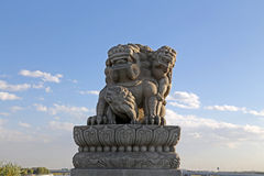 Marco Polo Bridge of Lions Stock Images