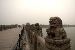 Marco Polo Bridge, Wanping, China Royalty Free Stock Images