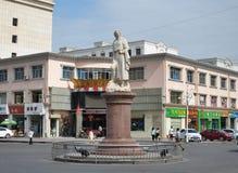 Marco Polo-standbeeld royalty-vrije stock afbeelding