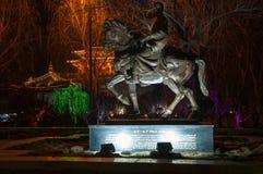 Marco Polo-standbeeld Yangzhou, Jiangsu-Provincie, China Royalty-vrije Stock Afbeeldingen