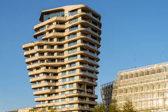 The Marco Polo Tower in the HafenCity Hamburg Royalty Free Stock Image