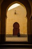 Marco popular - mausoléu de Moulay Idris em Meknes, Marrocos Fotografia de Stock
