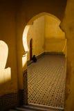 Marco popular - mausoléu de Moulay Idris em Meknes, Marrocos fotografia de stock royalty free