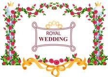 Marco real de la boda Imagenes de archivo