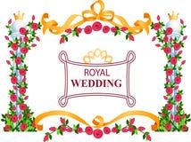 Marco real de la boda ilustración del vector