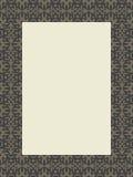 Marco rectangular del remolino tribal Imagen de archivo