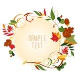 Marco redondeado de las hojas de otoño Fotos de archivo libres de regalías