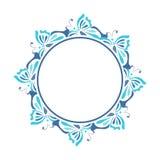 Marco redondo azul Imagenes de archivo