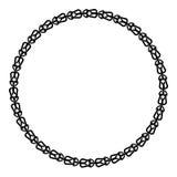 Marco redondo blanco y negro con el ornamento céltico stock de ilustración