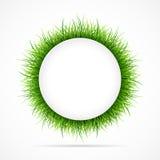 Marco redondo con la hierba verde Foto de archivo libre de regalías