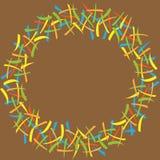 Marco redondo con las rayas coloreadas Imágenes de archivo libres de regalías