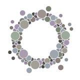 Marco redondo con los círculos para su texto Imagen de archivo
