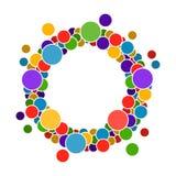 Marco redondo con los círculos para su texto Fotos de archivo libres de regalías