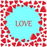 Marco redondo de diversos corazones clasificados libre illustration