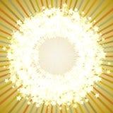 Marco redondo de la estrella en un fondo retro. Fotos de archivo libres de regalías