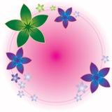 Marco redondo de la flor stock de ilustración