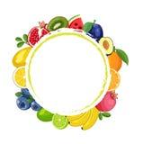 Marco redondo de la fruta Foto de archivo