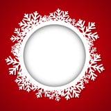 Marco redondo de la Navidad Foto de archivo