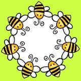 Marco redondo de las abejas del vuelo Fotos de archivo