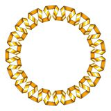Marco redondo decorativo de la cinta espiral de oro Ilustración del vector stock de ilustración