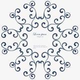 Marco redondo decorativo Vector abstracto floral Fotografía de archivo libre de regalías