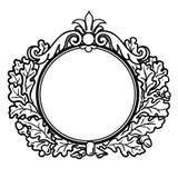 Marco redondo del estilo del Victorian Imagen de archivo libre de regalías