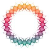 Marco redondo del extracto del color de la pendiente Copie el espacio Clip art de la trama Fotos de archivo libres de regalías