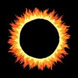 Marco redondo del fuego Imagenes de archivo