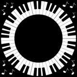 Marco redondo del teclado de piano Imagen de archivo libre de regalías