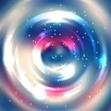 Marco redondo del vector Colores rosados, azules, blancos Prohibición brillante del círculo Fotos de archivo