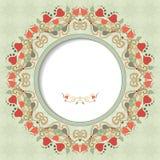 Marco redondo del vector con el ornamento floral Imagen de archivo