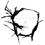 Marco redondo del vector del dibujo de la tinta libre illustration