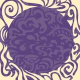 Marco redondo elegante violeta Fotografía de archivo
