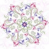 Marco redondo floral colorido Imagen de archivo libre de regalías