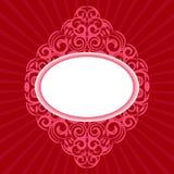 Marco retro adornado en rojo Fotografía de archivo libre de regalías