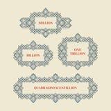 Marco retro con el lugar para el texto Elemento de la decoración del vintage Ejemplo para la presentación de la comercialización  libre illustration