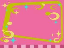 Marco retro con las estrellas y los círculos libre illustration