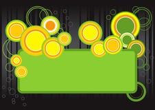 Marco retro de la burbuja stock de ilustración