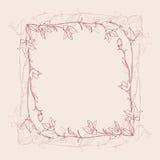 Marco retro de la flor Imagenes de archivo