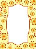 Marco retro de la flor Foto de archivo libre de regalías