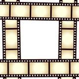 Marco retro de la foto de la tira de la película Imágenes de archivo libres de regalías