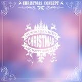 Marco retro de la Navidad Imágenes de archivo libres de regalías
