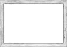 marco retro de madera blanco del vintage del ratio 3to2 foto de archivo