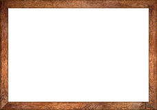 marco retro de madera del vintage del roble del ratio 3to2 Fotos de archivo libres de regalías